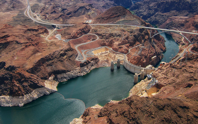 High-resolution desktop wallpaper Hoover Dam Aerial by auburnalum06