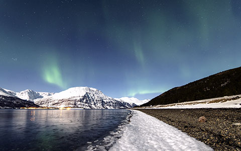 High-resolution desktop wallpaper Lyngen Lights by Nitrogliserin