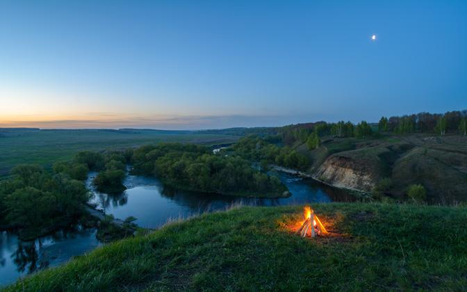 High-resolution desktop wallpaper The 4am Campfire by StarGazer
