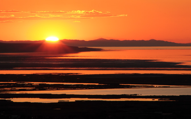 High-resolution desktop wallpaper Sunset over Great Salt Lake by Adam_Ferrero