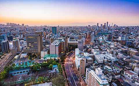 High-resolution desktop wallpaper Tokyo Skyline at Dusk by johnhmoody