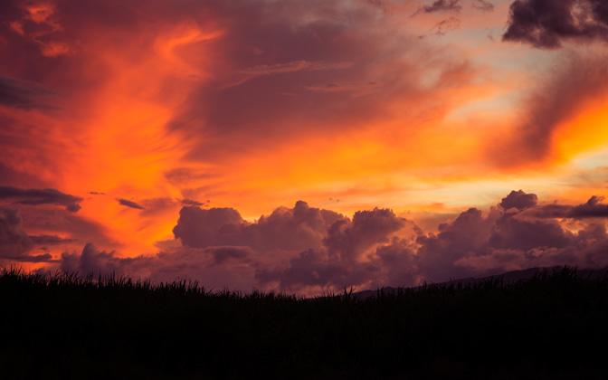 High-resolution desktop wallpaper Tangerines in the Sky by jdphotopdx