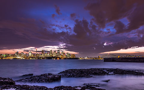 High-resolution desktop wallpaper Night In Sydney by snowlee