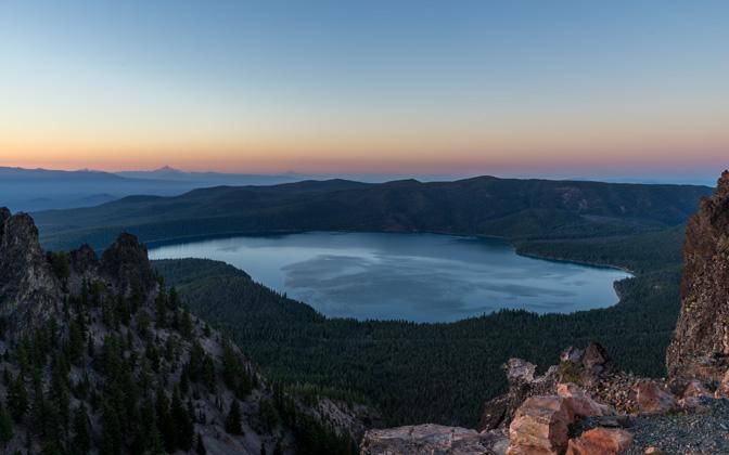 High-resolution desktop wallpaper Paulina Lake From Above by jdphotopdx