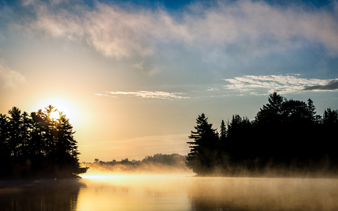 High-resolution desktop wallpaper Sunrise Over the Lake by ivan