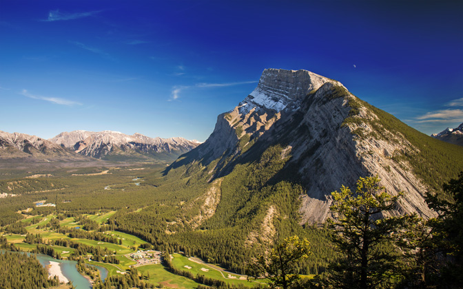 High-resolution desktop wallpaper Mount Rundle by Ritch