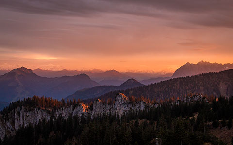 High-resolution desktop wallpaper Alpenglühen II by Trancepole