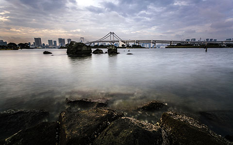 High-resolution desktop wallpaper Tokyo Rainbow Bridge by andrewsparrow