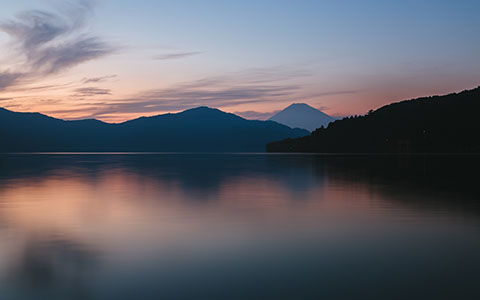 High-resolution desktop wallpaper Hakone Sunset by andrewsparrow