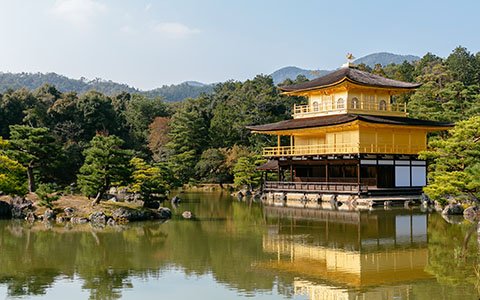 High-resolution desktop wallpaper Kyoto's Golden Pavilion by andrewsparrow