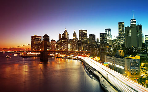 High-resolution desktop wallpaper New York City from Manhattan Bridge by JohnDoe