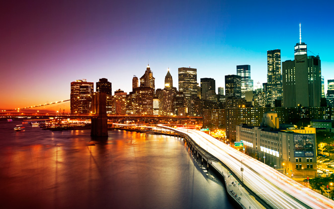 High-resolution desktop wallpaper New York City from Manhattan Bridge by knaim