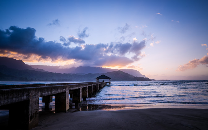 High-resolution desktop wallpaper The Pier of Hanalei Bay by jdphotopdx