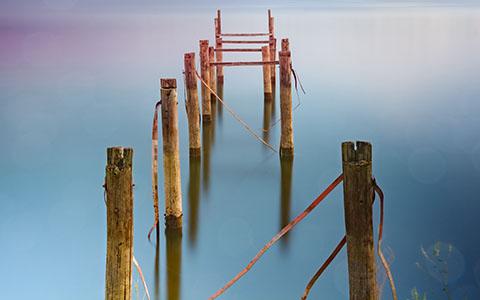 High-resolution desktop wallpaper Dock of Broken Dreams by NicolasBertolotti