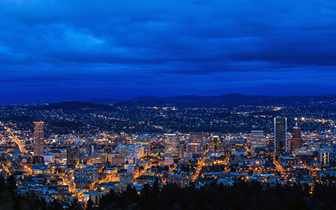 High-resolution desktop wallpaper A Blue Evening in Portland by jdphotopdx