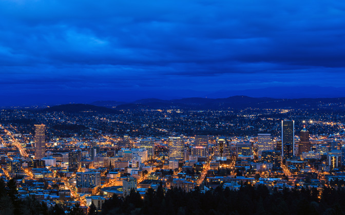 High Resolution Desktop Wallpaper A Blue Evening In Portland By Jdphotopdx