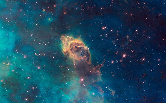 High-resolution desktop wallpaper Jet in Carina by NASA, ESA, and the Hubble SM4 ERO Team