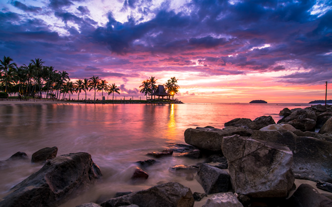 High-resolution desktop wallpaper Tanjung Aru Sunset by Daniel Jiang