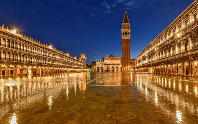 High-resolution desktop wallpaper Piazza San Marco - Acqua Alta by Robert_Schoeller