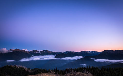 High-resolution desktop wallpaper Sunset on Blue Mountain by jdphotopdx