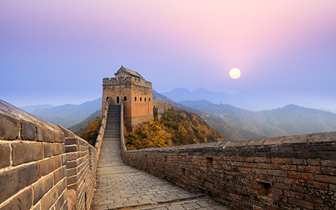High-resolution desktop wallpaper Sunrise at Jinshanling Great Wall by bingham009