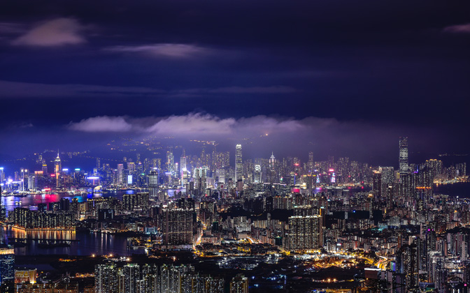 High-resolution desktop wallpaper Hong Kong City After Raining by Andrew