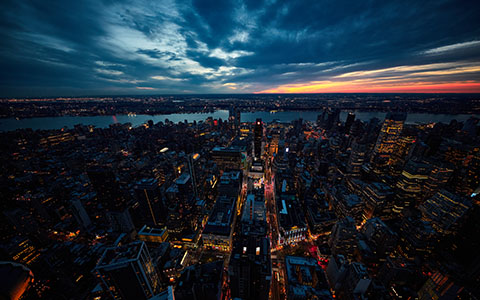 High-resolution desktop wallpaper Sunset at Big Apple by Oliver Buettner // Ascalo Photography