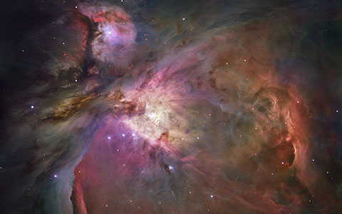 High-resolution desktop wallpaper Hubble's Sharpest View of the Orion Nebula by NASA Images