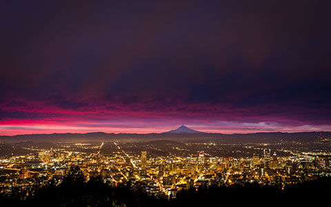 High-resolution desktop wallpaper Portland Sunrise by jdphotopdx