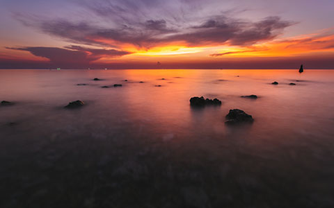 High-resolution desktop wallpaper Haad Yao Coral Reef Sunset by andrewsparrow