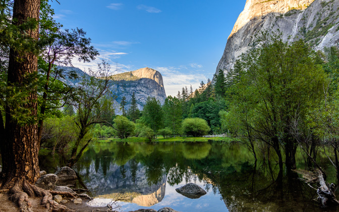 High-resolution desktop wallpaper Mirror Lake - Yosemite National Park by cbrooks5678