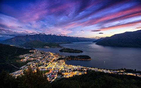High-resolution desktop wallpaper Queenstown from Bob's Peak by Dominic Kamp