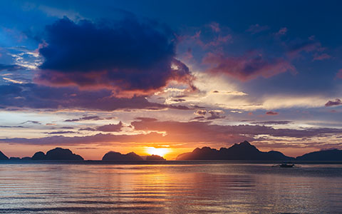 High-resolution desktop wallpaper Bacuit Bay Sunset by andrewsparrow