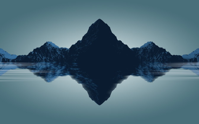 High-resolution desktop wallpaper Minimal Mountains by FreshPie