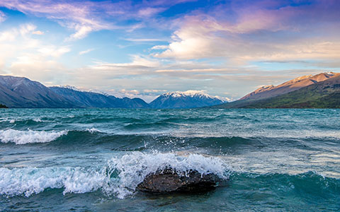 High-resolution desktop wallpaper Lake Ohau - Valley of the Winds by Dominic Kamp