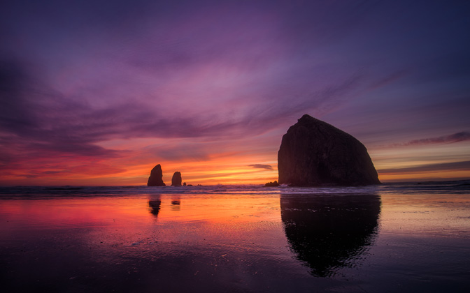 High-resolution desktop wallpaper Cannon Beach Sunset by jdphotopdx