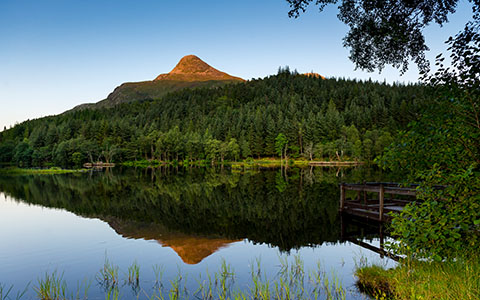 High-resolution desktop wallpaper Sunset on Glencoe Lochan by megastef