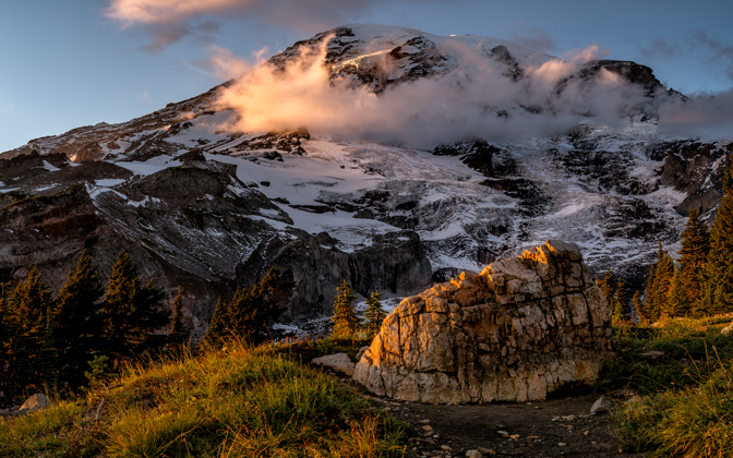 High-resolution desktop wallpaper The Rock at Rainier by jdphotopdx