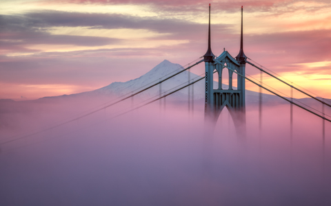 High-resolution desktop wallpaper Rising Above the Fog by jdphotopdx