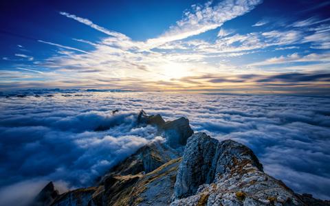 The Fresh Air of Saentis Mountain wallpaper