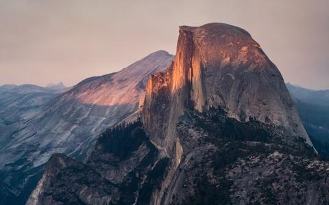 High-resolution desktop wallpaper Half Dome August Sunset by bakn