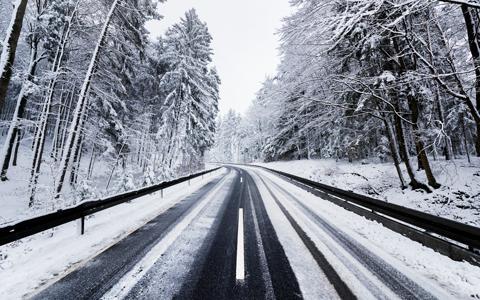 Winter Road wallpaper