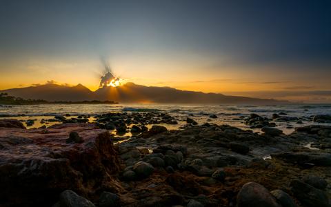 Baby Beach Sunset wallpaper