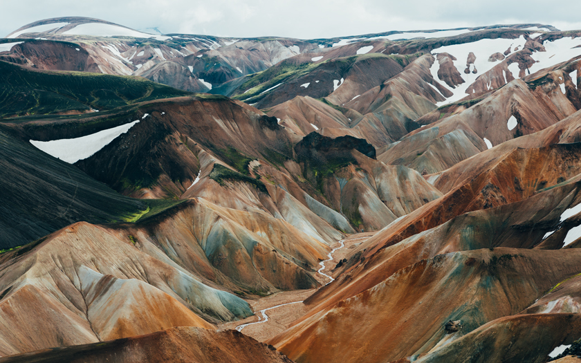 High-resolution desktop wallpaper Landmannalaugar in the summer by Dan Grady