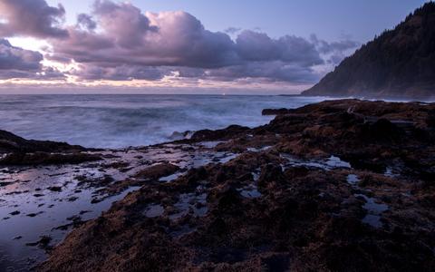 High-resolution desktop wallpaper Sunset at the Beach by oregonphotographer