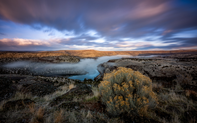 High-resolution desktop wallpaper Morning at the Deschutes by jdphotopdx