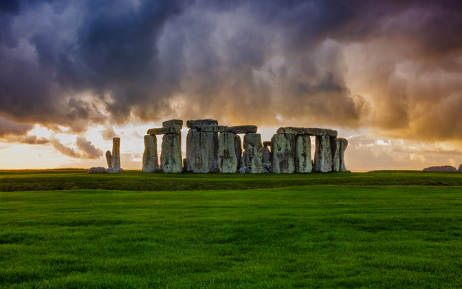 High-resolution desktop wallpaper Stonehenge Storm by auburnalum06