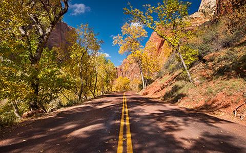 High-resolution desktop wallpaper Zion NP Road by TheWanderingSoul