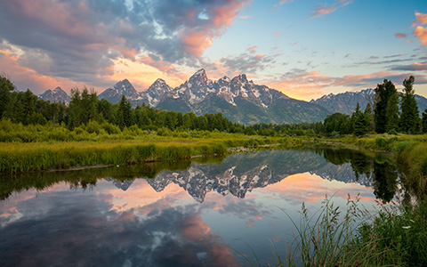 High-resolution desktop wallpaper Grand Teton Sunrise by Gerard87