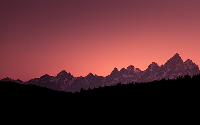 High-resolution desktop wallpaper Grand Teton Sunset by Gerard87
